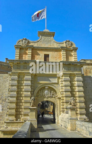 Malta, Mdina - Main Gate - Stock Photo