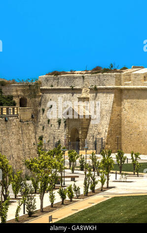 Malta - Mdina fortifications - Stock Photo