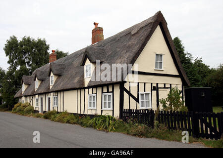 Oldest council houses in the country to be sold off - Stock Photo
