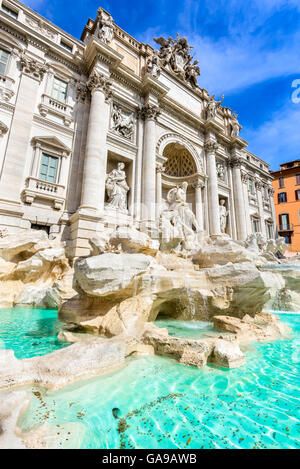 Rome, Italy. Famous Trevi Fountain (Italian: Fontana di Trevi) sculpture by Bernini. - Stock Photo