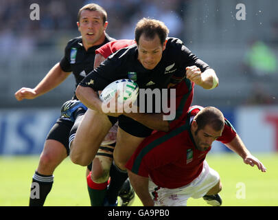 Rugby Union - IRB Rugby World Cup 2007 - Pool C - New Zealand v Portugal - Stade Gerland - Stock Photo
