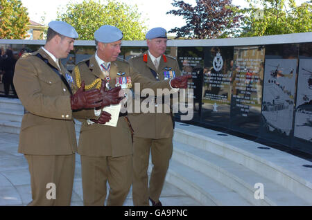The Prince of Wales attends the Army Air Corps' golden jubilee - Stock Photo