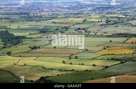 aerial view of a typical English countryside, UK - Stock Photo