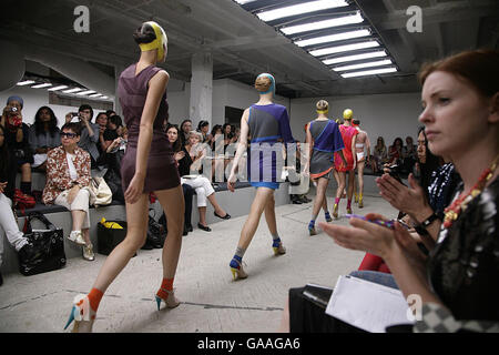 London Fashion Week - Louise Goldin (Topshop) Show - Stock Photo