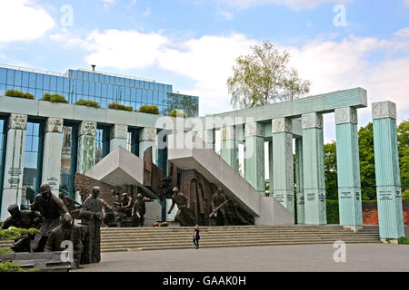 Warsaw Uprising Monument Warsaw Poland - Stock Photo
