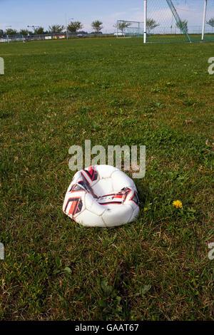 Deflated Football Stock Photo Royalty Free Image