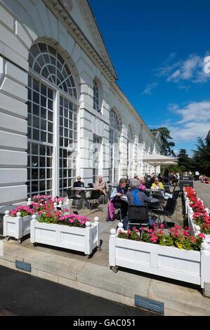 the orangery restaurant, kew gardens, london, england - Stock Photo