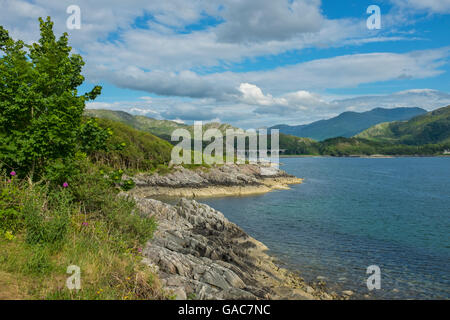The eastern end of Loch Nan Uamh on the west coast of Scotland. - Stock Photo
