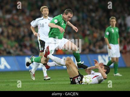 Soccer - UEFA European Championship 2008 Qualifying - Group D - Republic of Ireland v Germany - Croke Park - Stock Photo