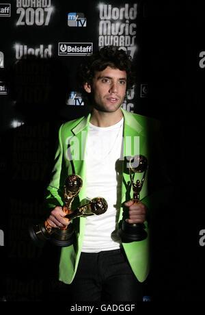 World Music Awards 2007 Press Room - Monte Carlo - Stock Photo