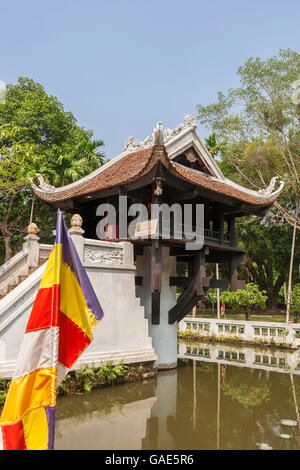 One Pillar Pagoda (Chua Mot Cot), Ba Dinh, Hanoi, Vietnam - Stock Photo