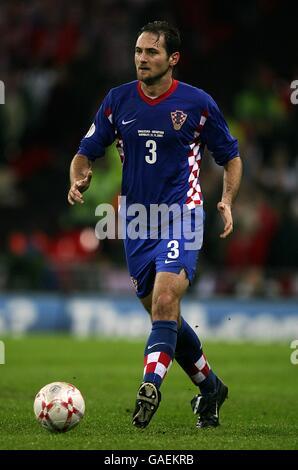 Soccer - UEFA European Championship 2008 Qualifying - Group E - England v Croatia - Wembley Stadium - Stock Photo