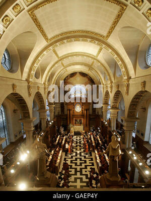 Royalty - Queen Elizabeth ll - Service of Thanksgiving - St Bride's Church - London - Stock Photo