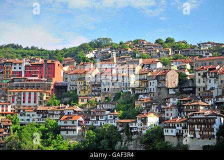 Veliko Tarnovo old town, summer view of a beautiful bulgarian site. - Stock Photo
