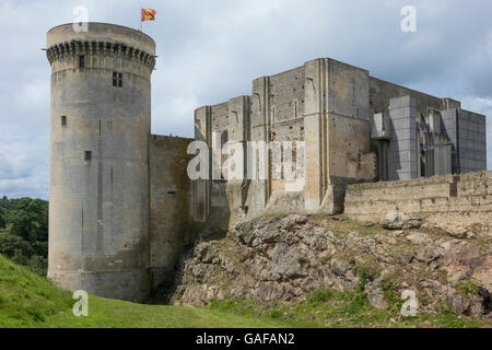 France, Normandy, Falaise, Castle - Stock Photo