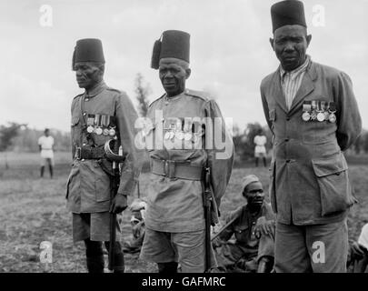 The British Army - Inter-War - African Regiments - King's African Rifles - Nairobi - 1928 - Stock Photo