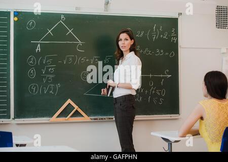 interactive whiteboard in primary school classroom Stock ...