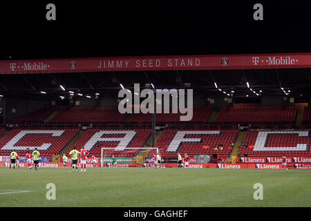 Soccer - FA Youth Cup - Fourth Round - Charlton Athletic v Sheffield United - The Valley - Stock Photo
