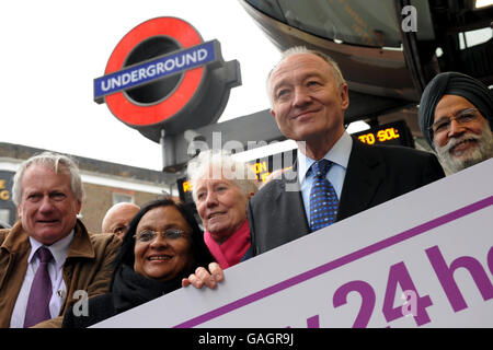 Ken Livingstone launches London Mayor bid - Stock Photo
