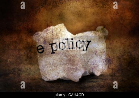 Policy trashgrunge  concept - Stock Photo