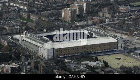 Aerial view of White Hart Lane - Stock Photo