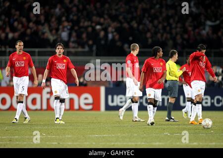 Soccer - UEFA Champions League - Olympique Lyonnais v Manchester United - Stade Gerland - Stock Photo