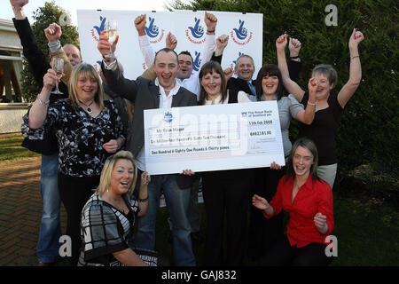 EuroMillions jackpot winner - Stock Photo