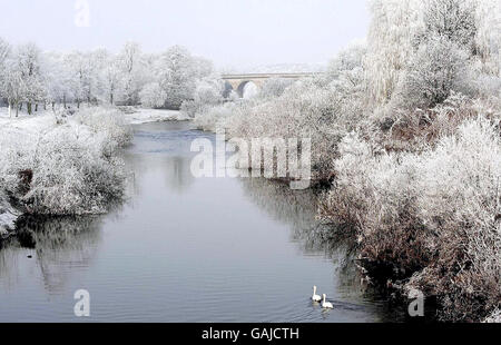 Cold weather in the UK - Stock Photo