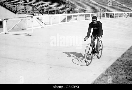 Summer Olympic Games 1908 - Cycling - Stock Photo