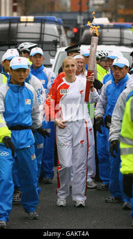 Beijing Olympics Torch Relay - London - Stock Photo