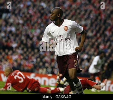 Soccer - UEFA Champions League - Quarter Final - Second Leg - Liverpool v Arsenal - Anfield - Stock Photo
