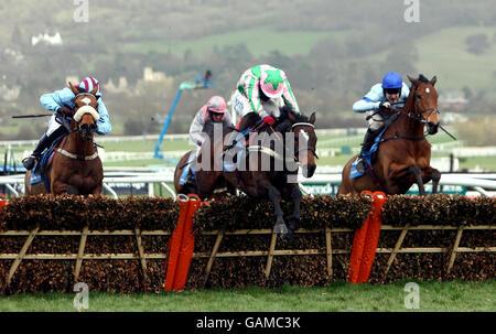 Horse Racing - Cheltenham Festival - Day One - Cheltenham Racecourse - Stock Photo