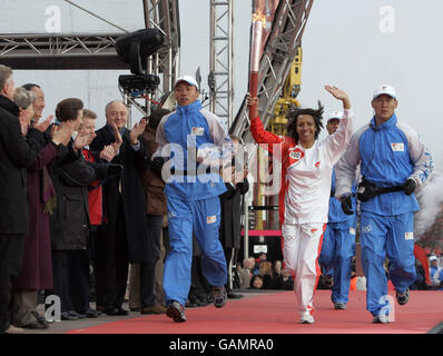 Beijing Olympics Torch Relay - London - Stock Photo