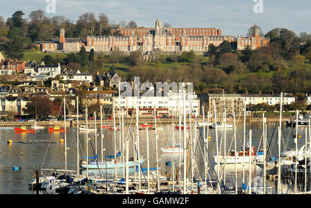 Queen visits the Britannia Royal Naval College - Dartmouth - Stock Photo