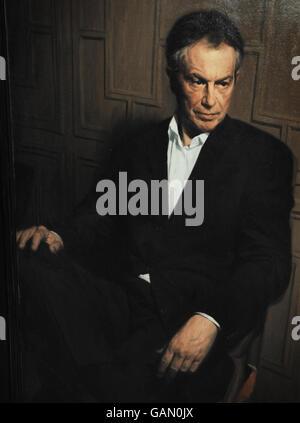 Portrait of Tony Blair goes on display - Stock Photo