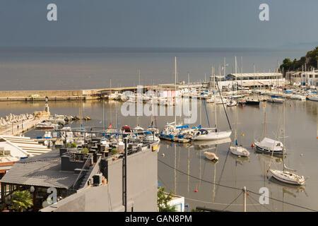 Microlimano port at Piraeus in Greece. - Stock Photo