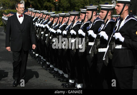 President of Estonia, Toomas Hendrik in Ireland - Stock Photo
