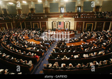 Ahern addressing US congress - Stock Photo