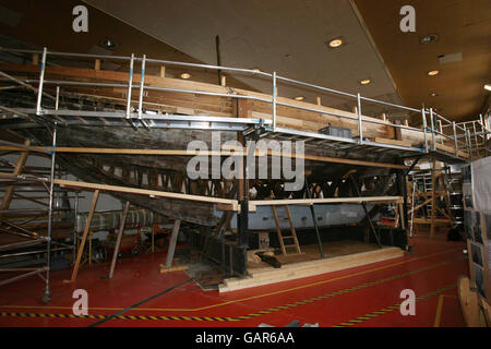 Restoration work is being carried out on the Asgard boat, made famous when it was used for running guns for the Irish Volunteers in 1914.