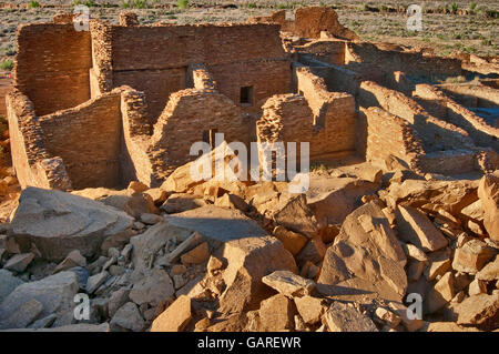 Pueblo Bonito, Anasazi Indian ruins, Chaco Culture National Historical Park, New Mexico, USA - Stock Photo