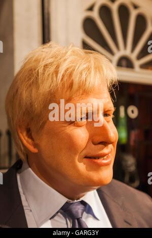 England, London, Madame Tussauds, Wax Figure of Boris Johnson - Stock Photo