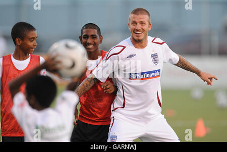Soccer - England Soccer Clinic - Marvin Lee Stadium - Stock Photo