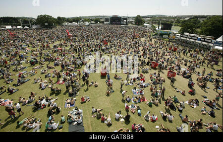 Isle of Wight Festival 2008 - Day 2 - Stock Photo