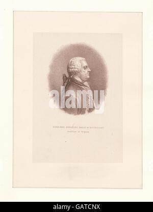Norborne Berkeley, Baron de Bottetourt, Governor of Virginia ( Hades-286747-1253704) - Stock Photo