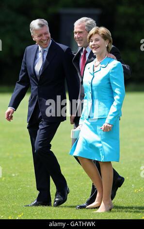 US President George Bush visits UK - Stock Photo