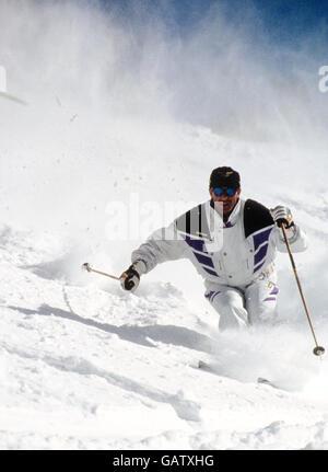Ingemar Stenmark Swedish alpine skiers - Stock Photo