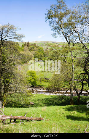 The River South Tyne flowing through the North Pennines, Garrigill, Cumbria, England, UK - Stock Photo