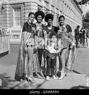 British Pop Music - The 1970's - The Hippolytes - London - 1977 - Stock Photo