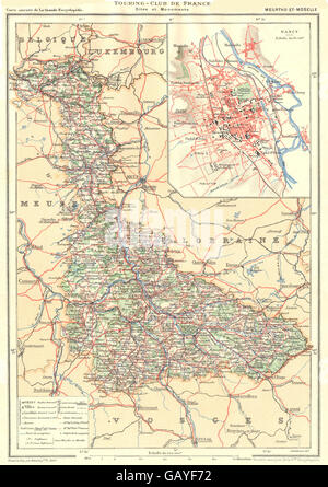 Departement of MeurtheetMoselle France Relief Map Stock Photo