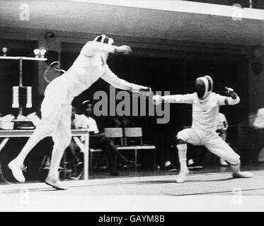 Fencing - 8th British Commonwealth Games - Kingston, Jamaica - Men's Individual Epee - Stock Photo